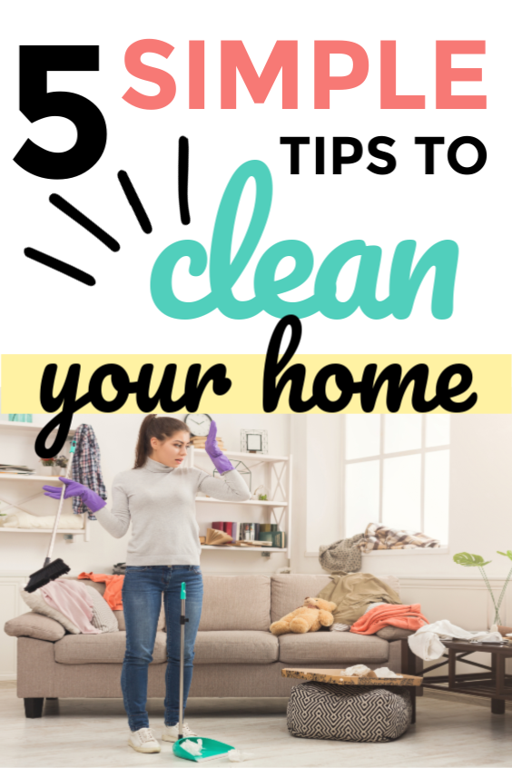 5 tips to keep a clean house