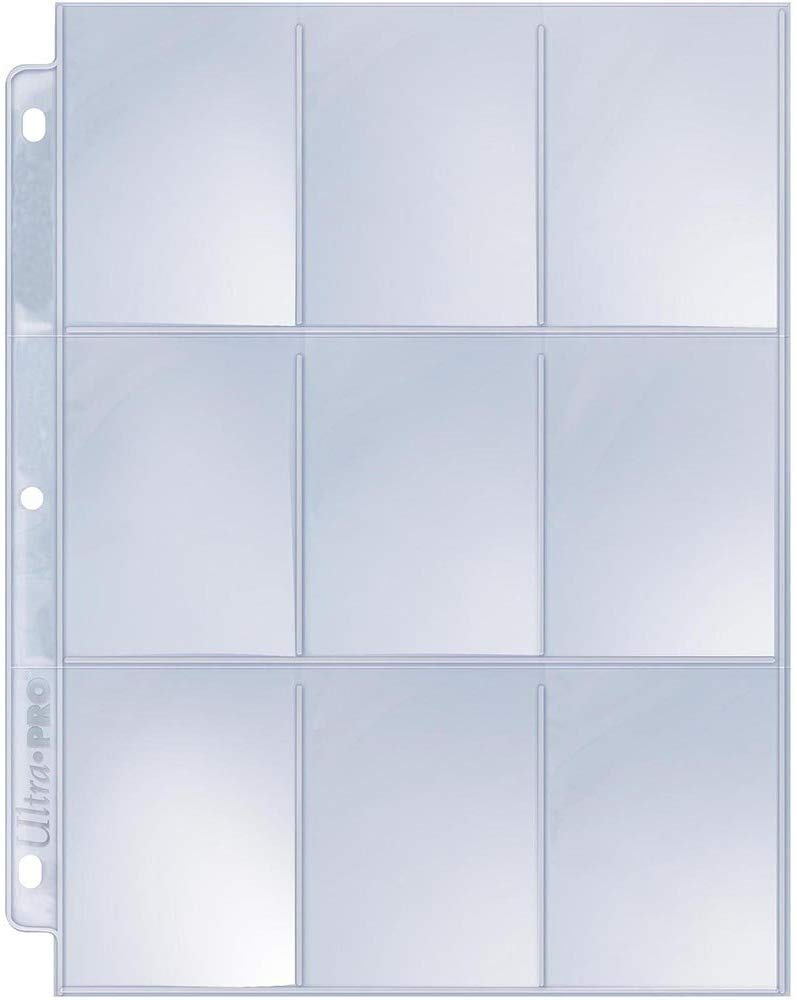 9 pocket page sleeve for coupon binder