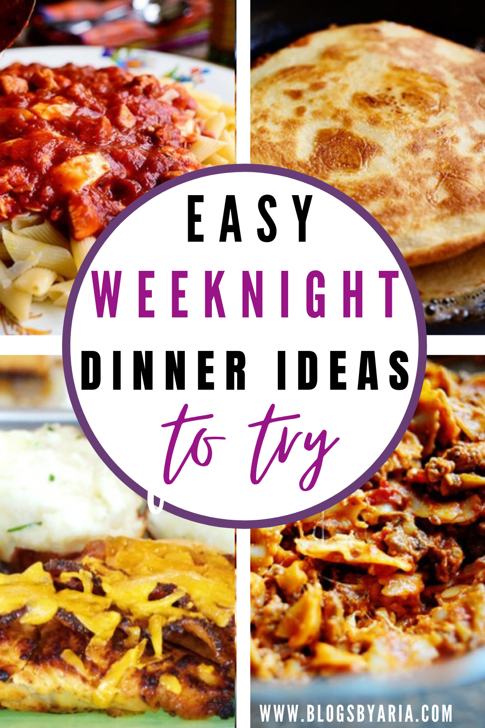 easy weeknight dinners to try to get out of your dinner rut