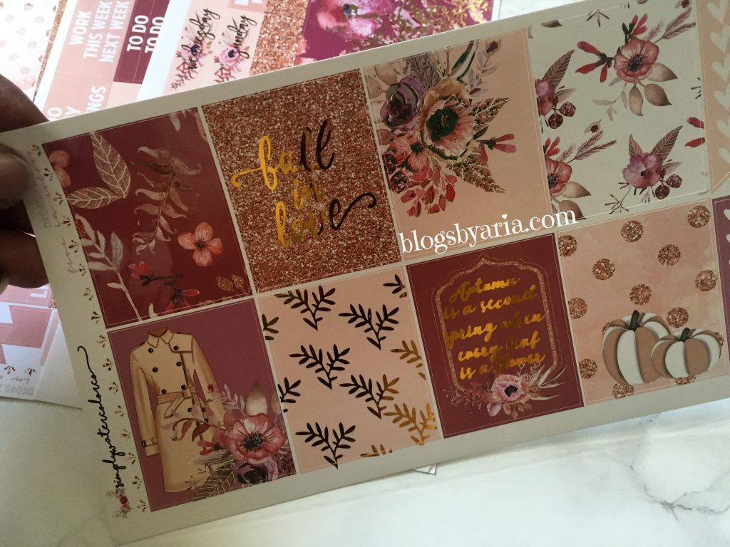 """Simply Watercolor Co Sparkling Fall planner kit """"Fall in Love"""""""
