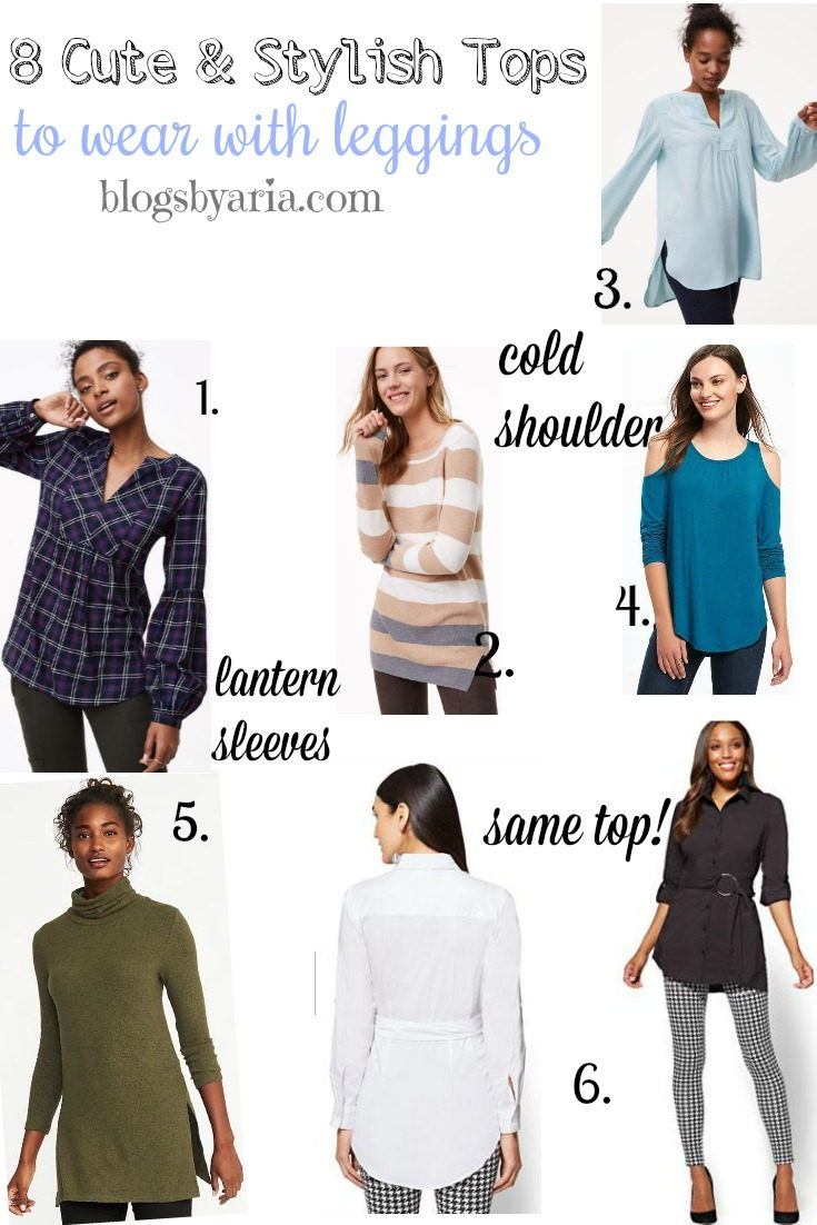 8 Cute & Stylish Tops to Wear with Leggings