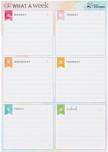 Oh! What a Week Notepad