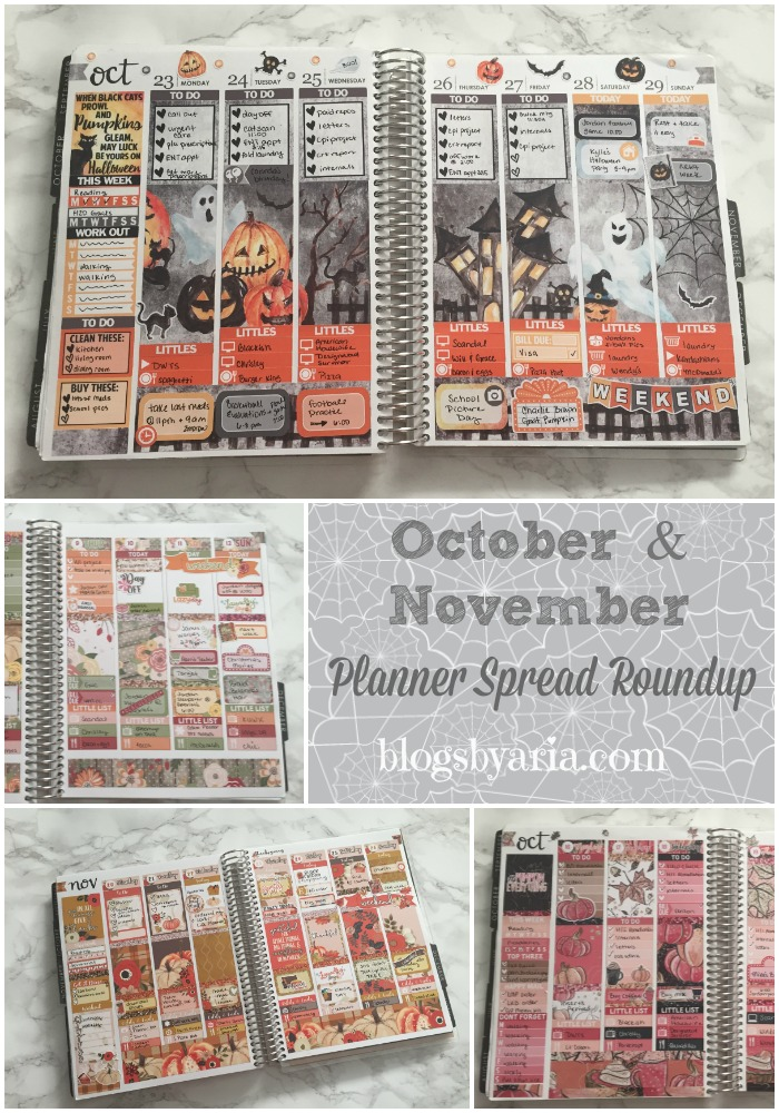 October and November Planner Spread Roundup