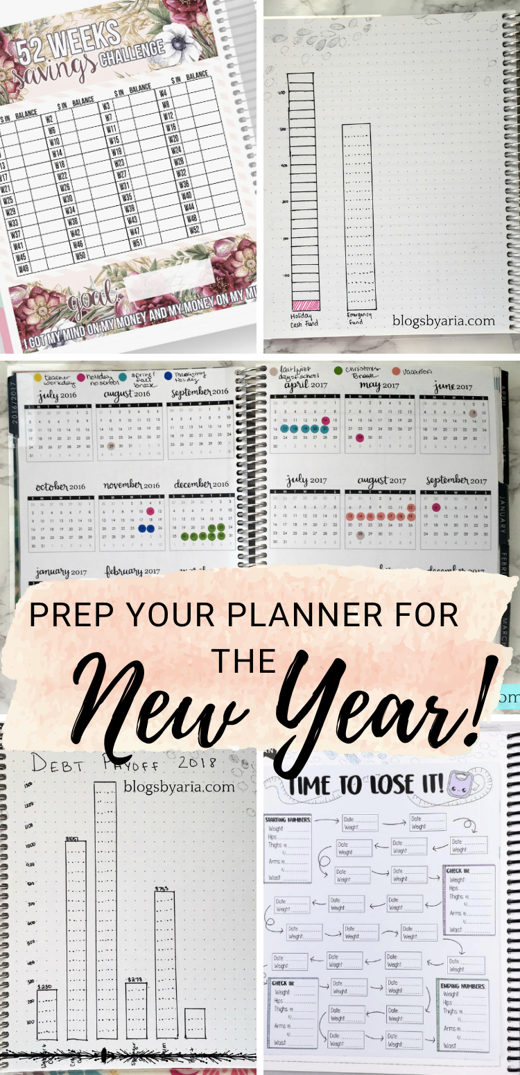 prep your planner for the new year