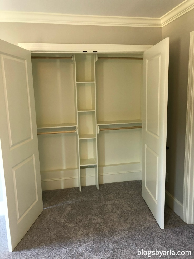kids closet with built-in storage ideas -- perfect for kids