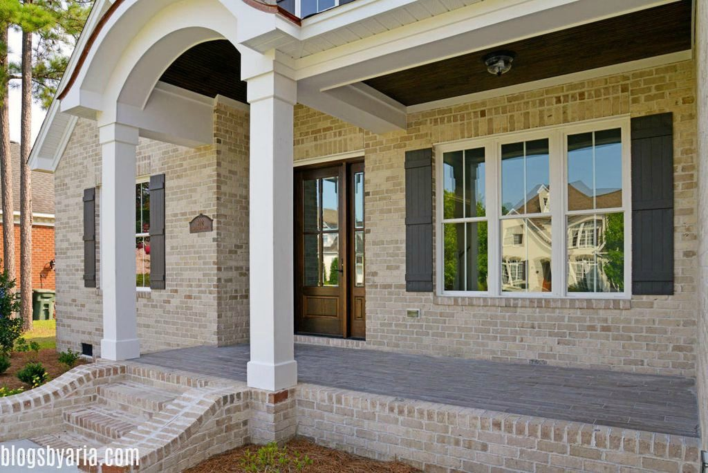 Madison Park front porch with beaded wood ceiling