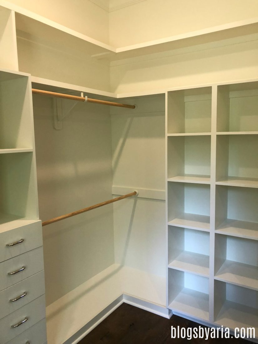 this walk-in closet is a dream