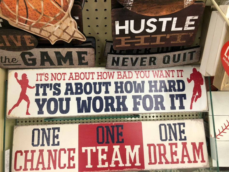 Work For It Football Decor