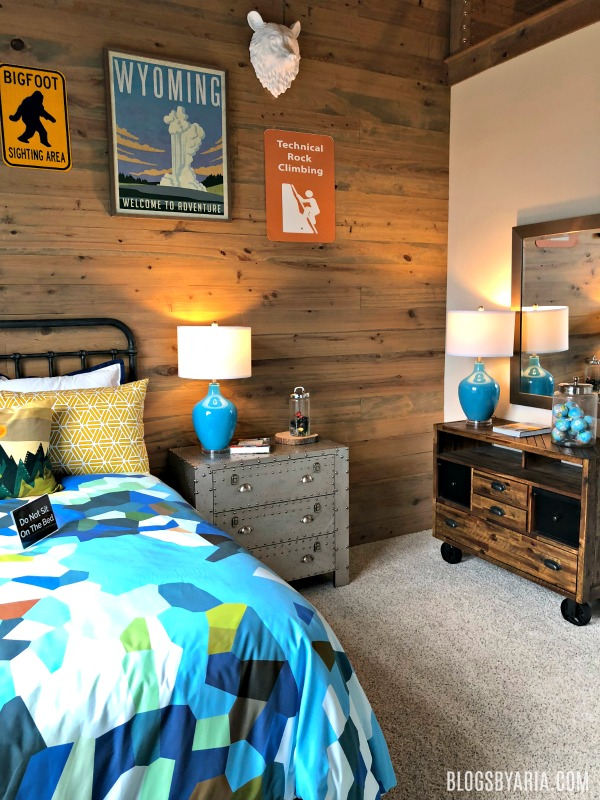 wood planked feature wall