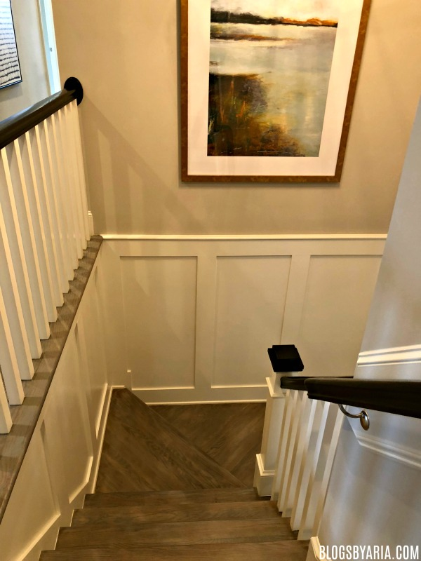primary staircase wall trimwork