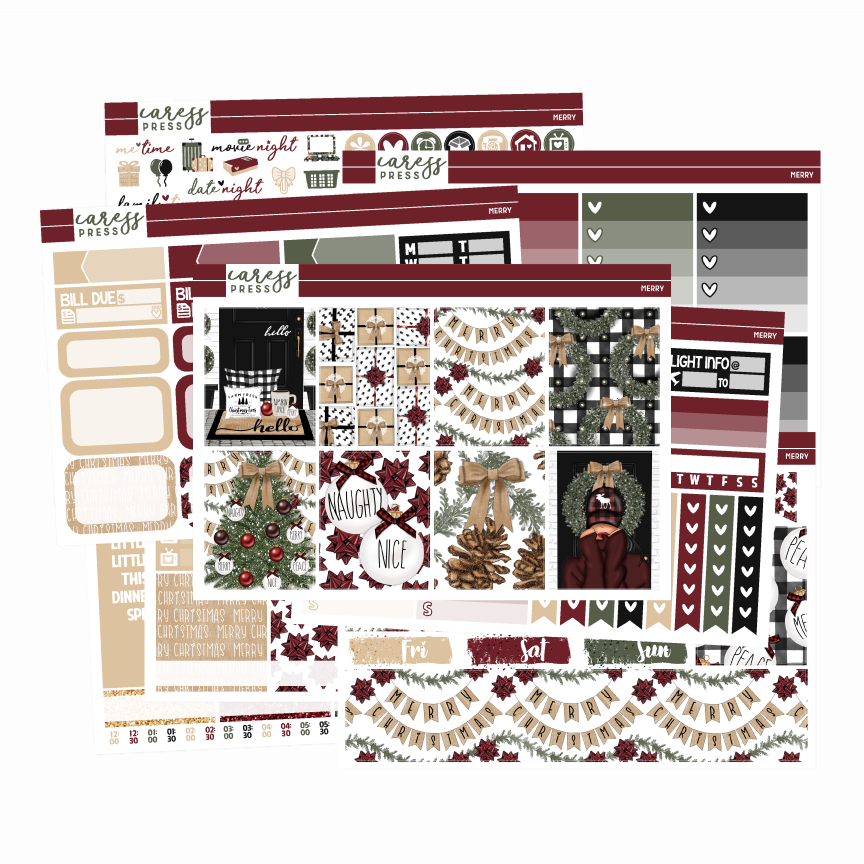 Caress Press Merry Planner Kit