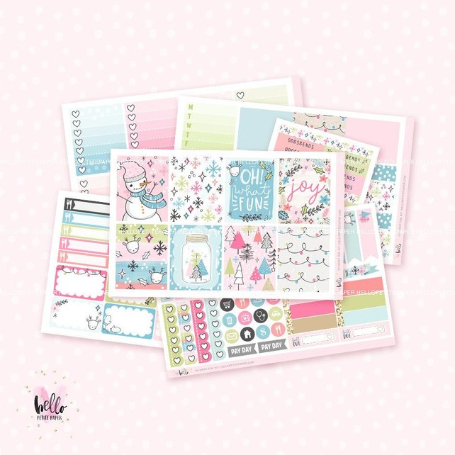 Hello Petite Paper Oh What Fun Weekly Planner Kit