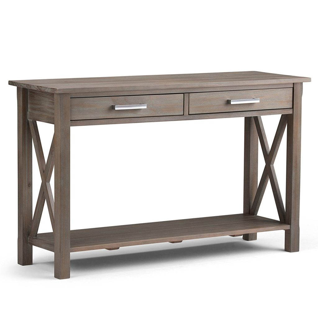 A console table is perfect for the entryway