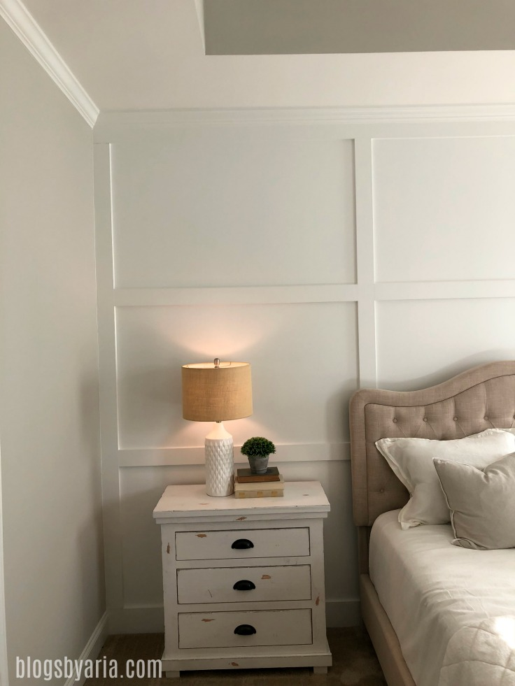 trimmed feature wall