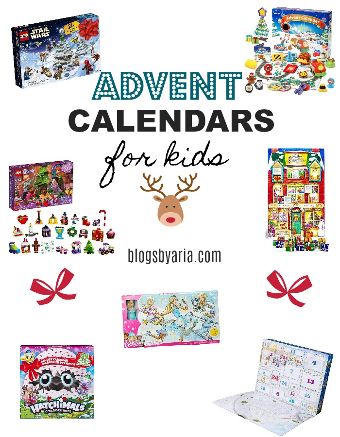 Advent Calendars for kids with their favorite characters and toys