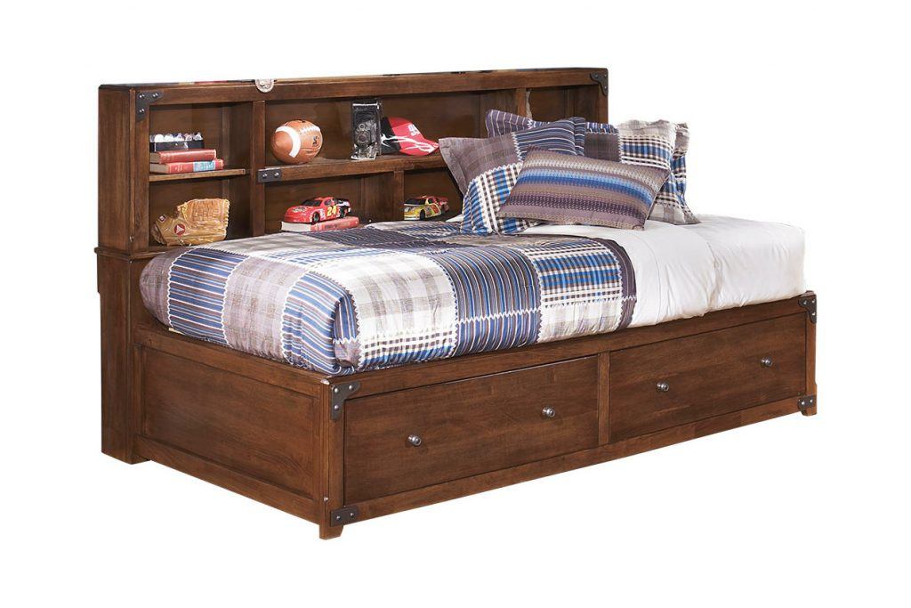 Delburne Twin Bookcase Bed