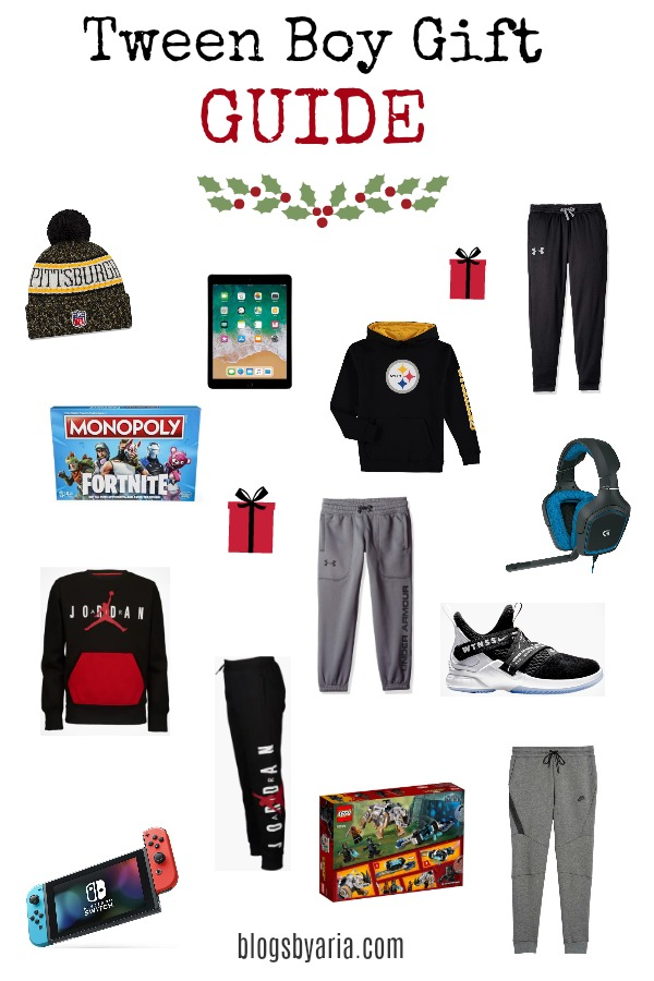 I'm sharing my Tween Boy Gift Guide full of must-have gifts for the tween boy in your life!