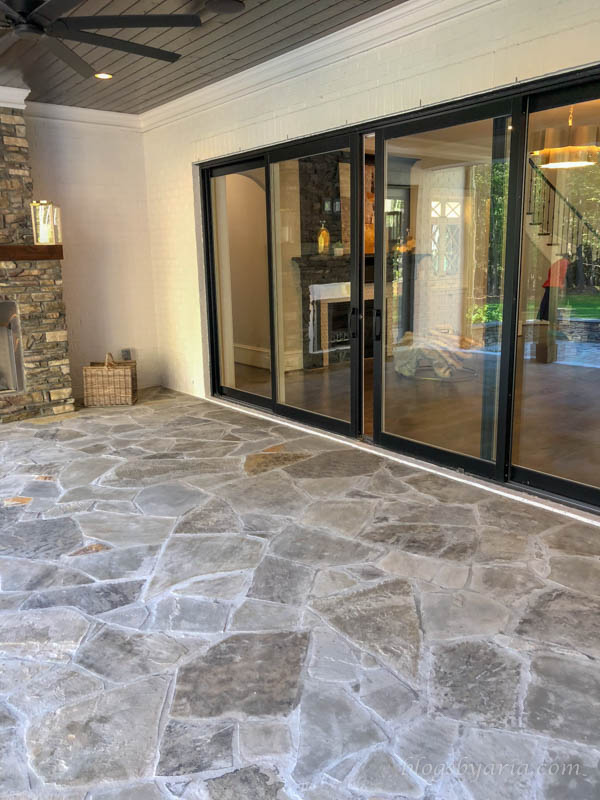covered porch with stone layed flooring
