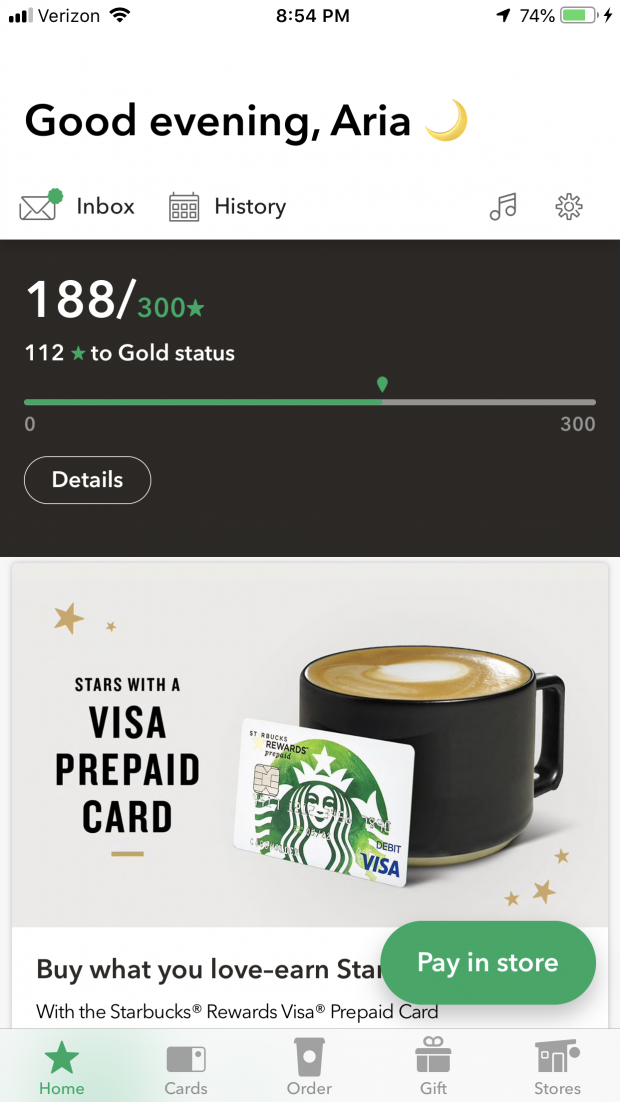 I'm talking about one of my favorite apps... the Starbucks app in my February Favorites post! #favorites #favoriteapp