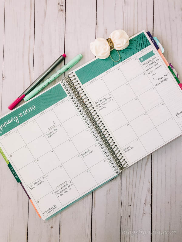 how I use my Erin Condren Deluxe Monthly Planner as a blog planner