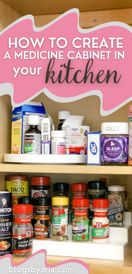 how to create a medicine cabinet in your kitchen
