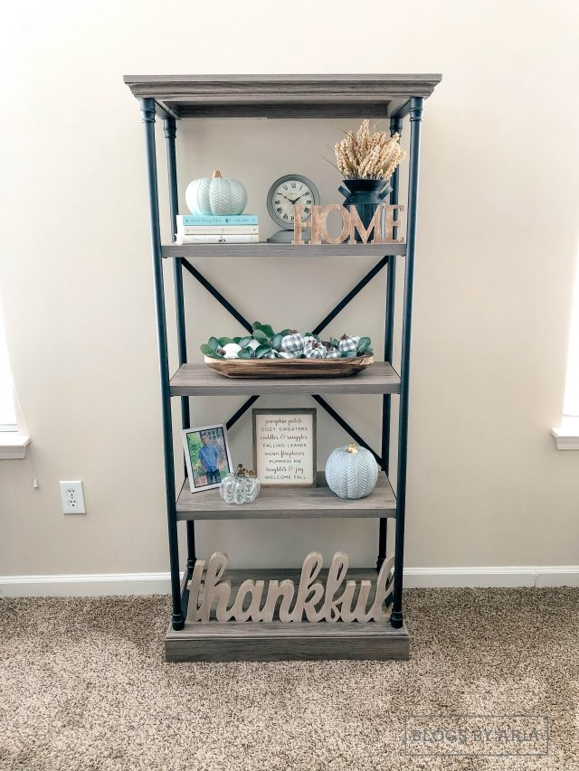 Threshold Conway Cast Iron bookshelf fall decor