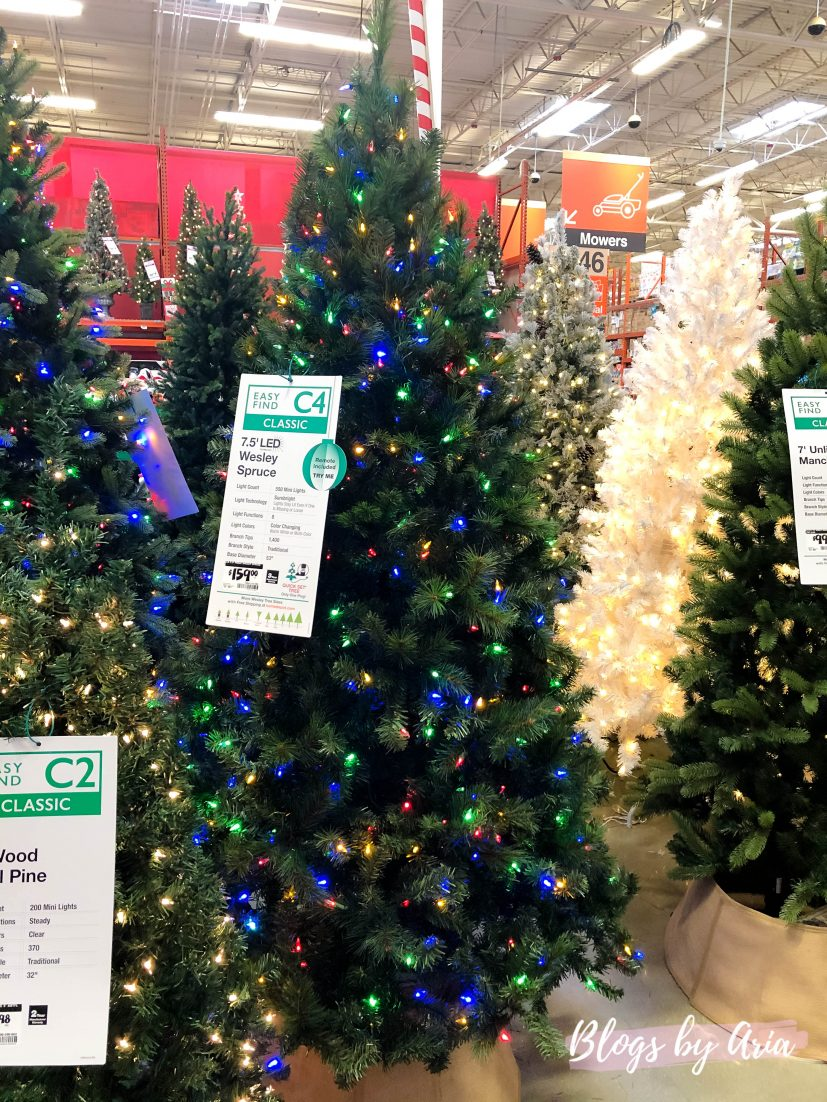 shopping for a budget friendly Christmas tree