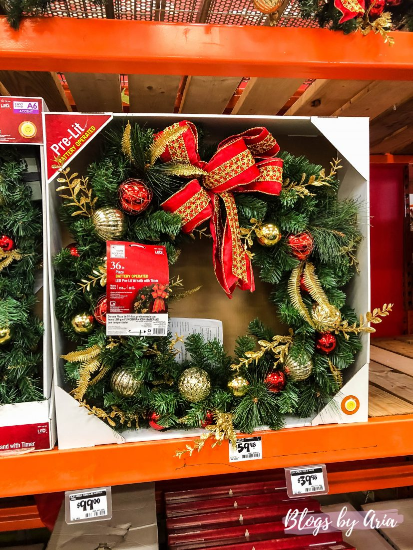 shopping for Christmas wreath