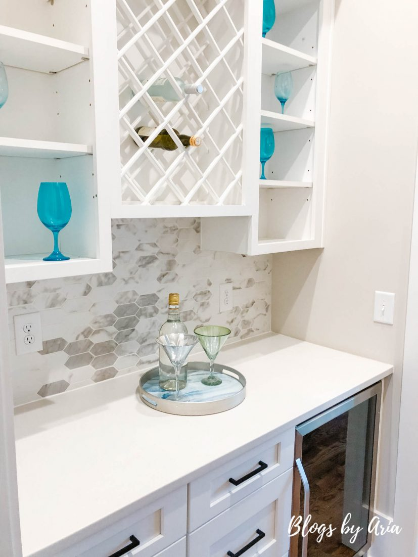 butler's pantry with wine storage