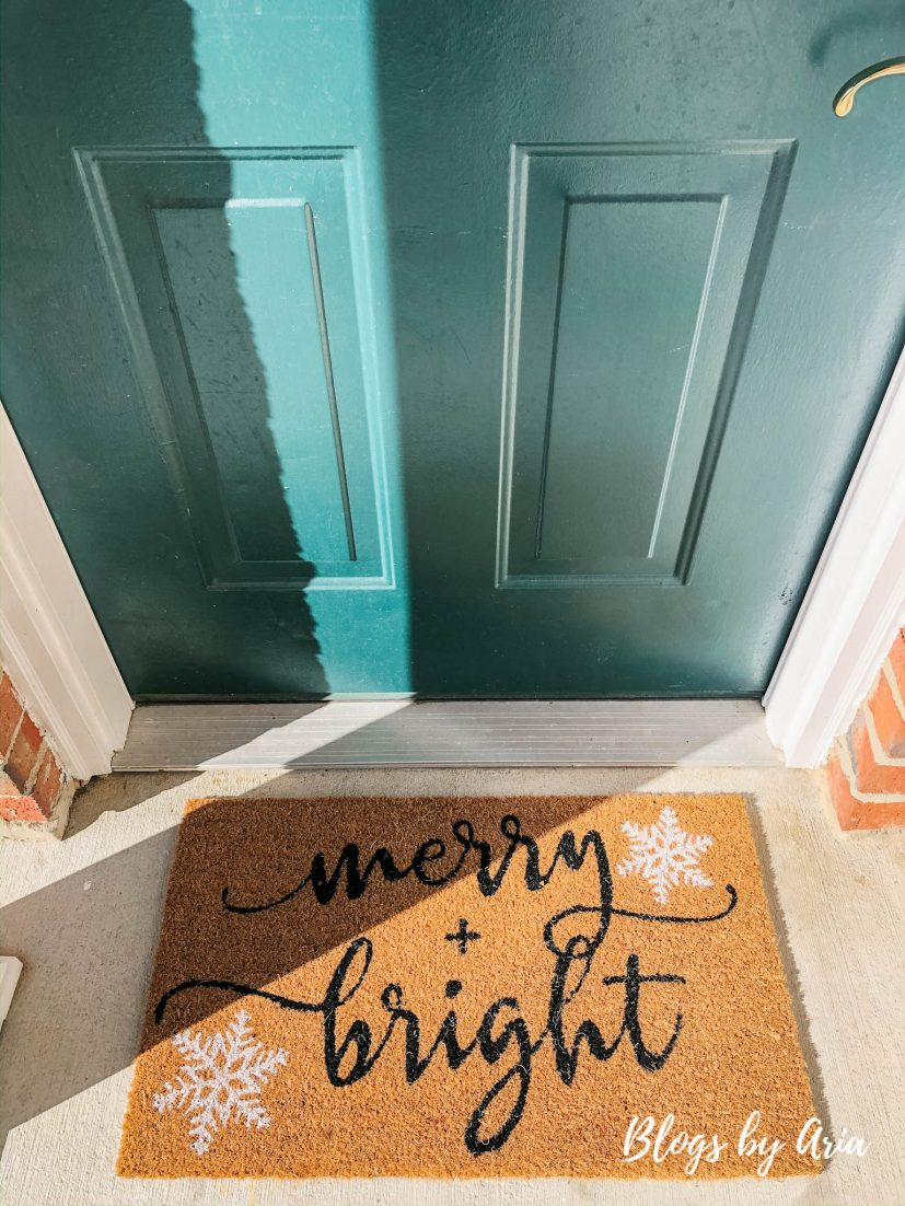 merry + bright doormat