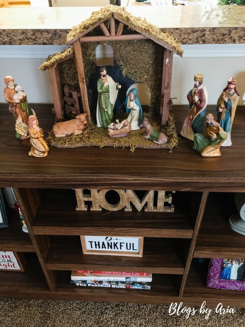 farmhouse nativity set