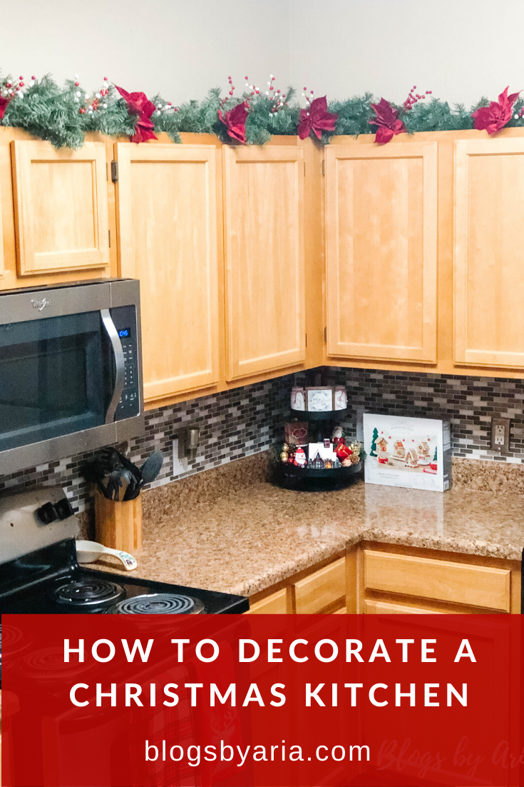 how to decorate a christmas kitchen