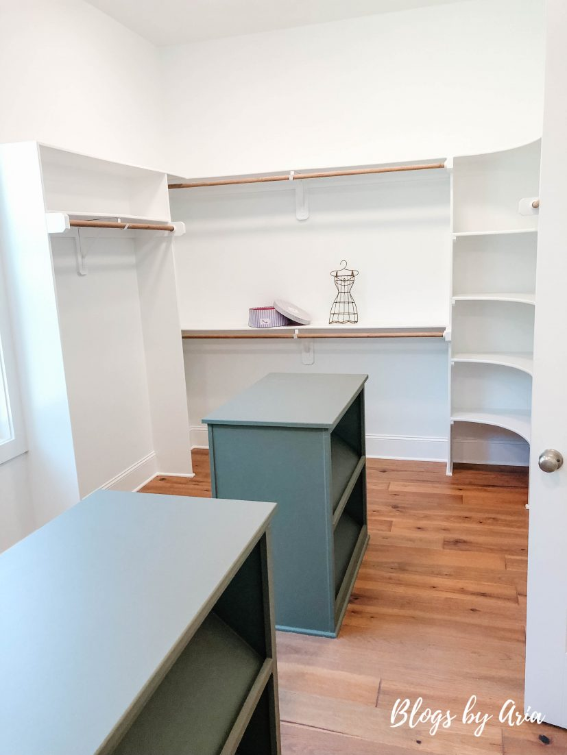 closet with double island