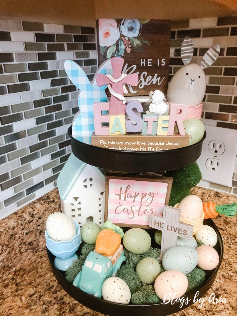 Easter Tiered Tray decor