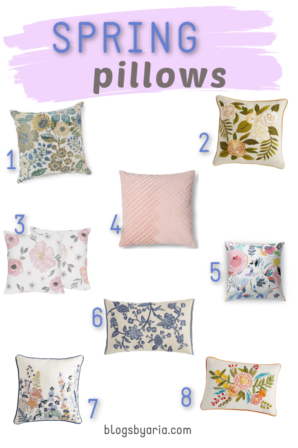 Refresh your home with Spring pillows