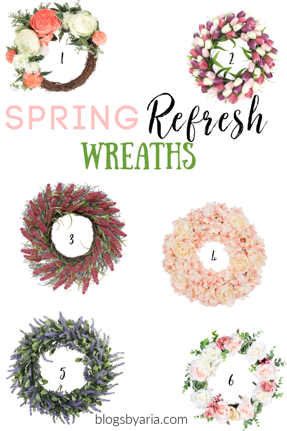 A Spring Wreath freshens up a space