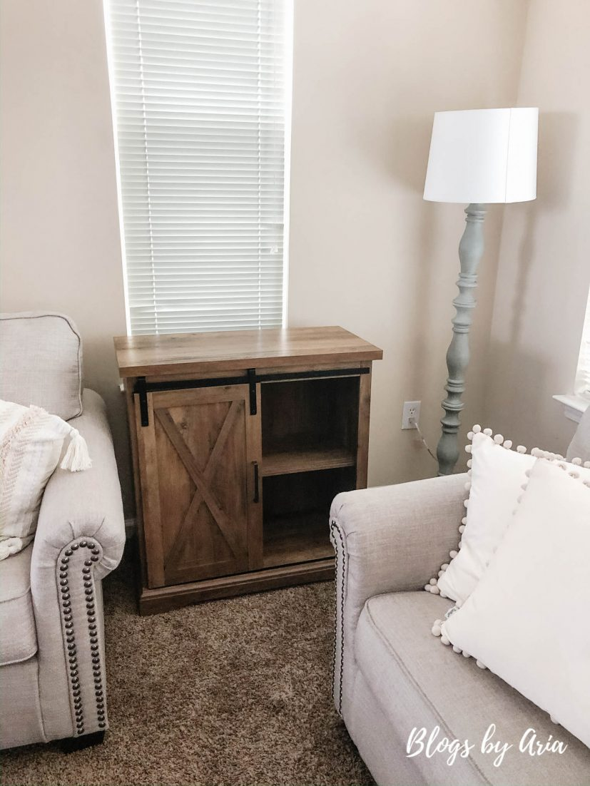 sliding barn door accent table