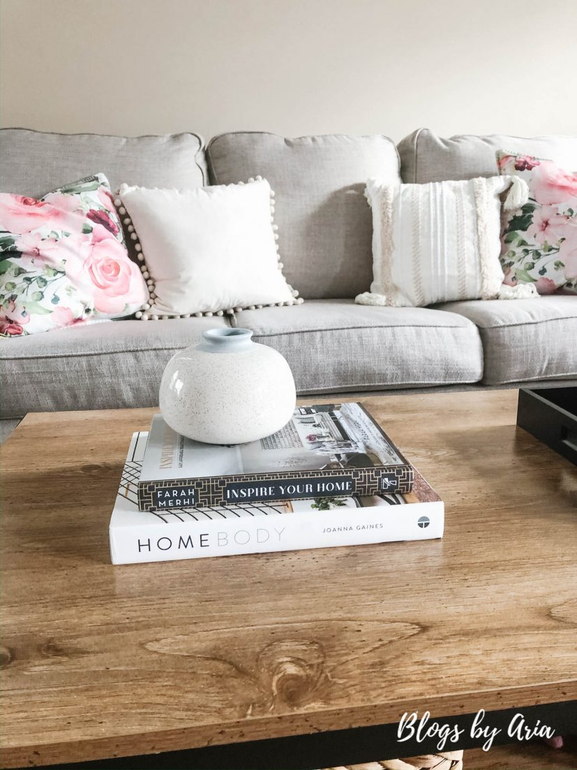 neutral coffee table books