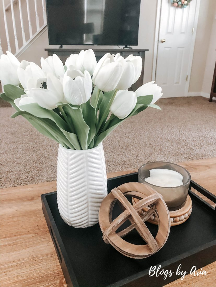 simple coffee table decor