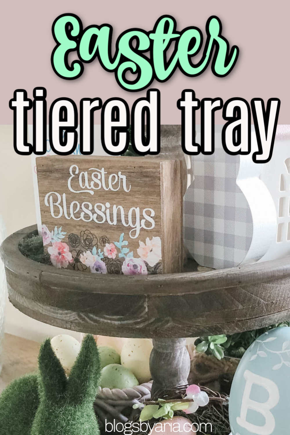 Easter Tiered Trays Decor Ideas