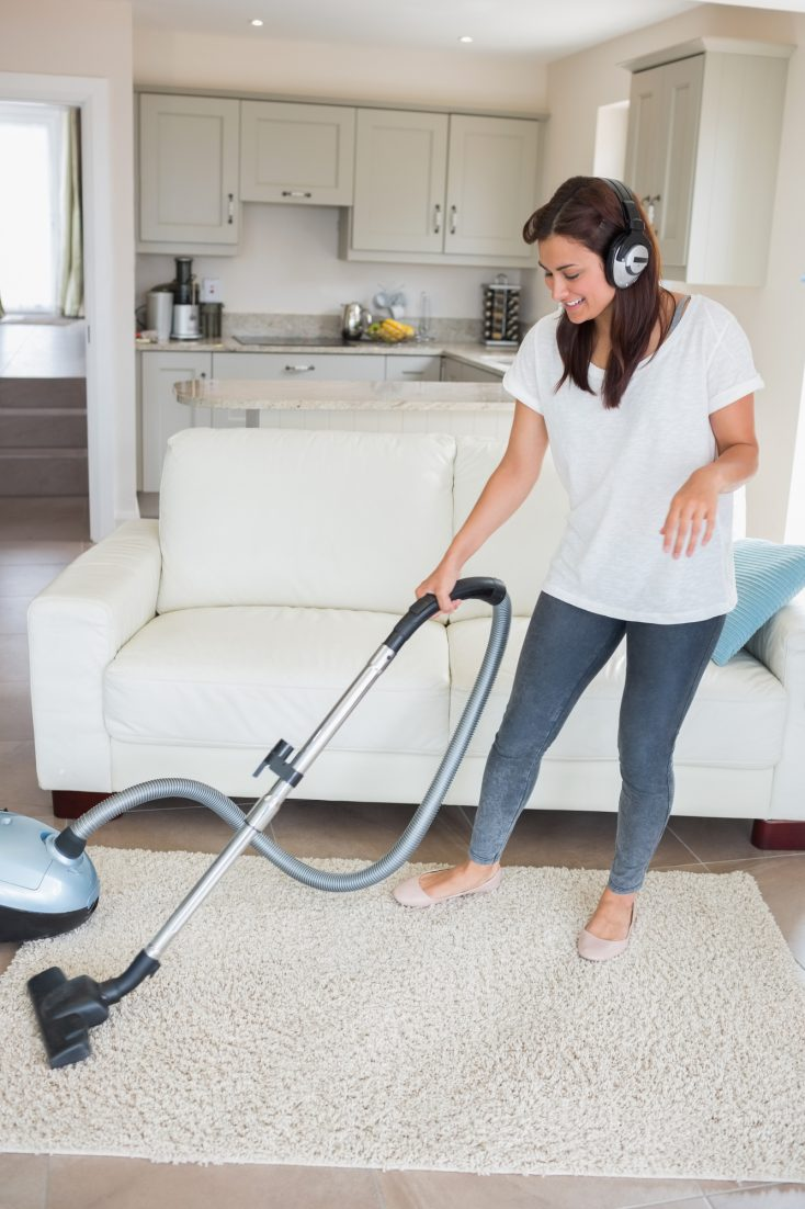 create a cleaning playlist to stay motivated