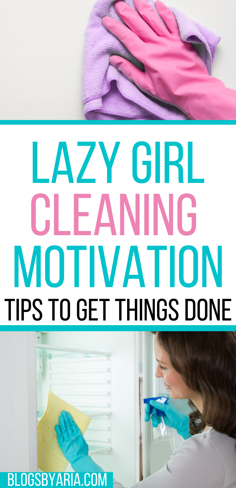 lazy girl cleaning motivation tips