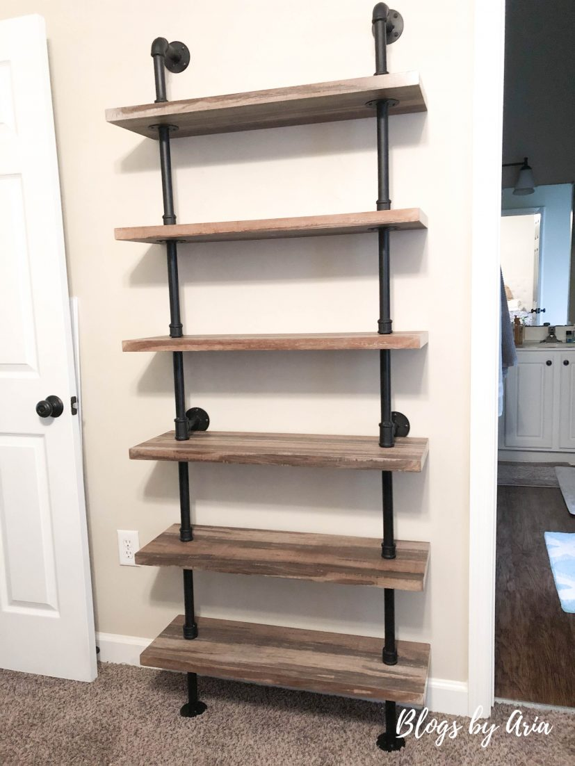 Wayfair iron pipe wall mount ladder bookcase review