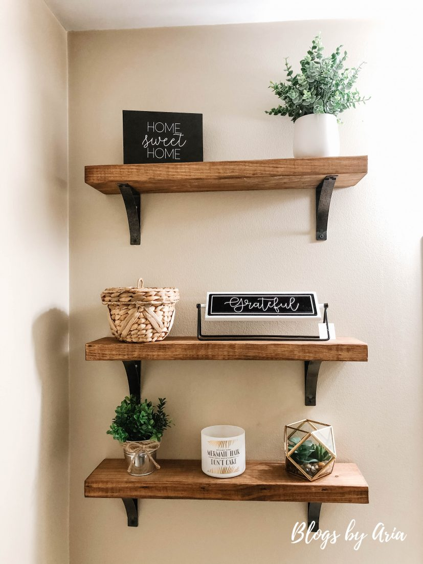 decorating floating shelves