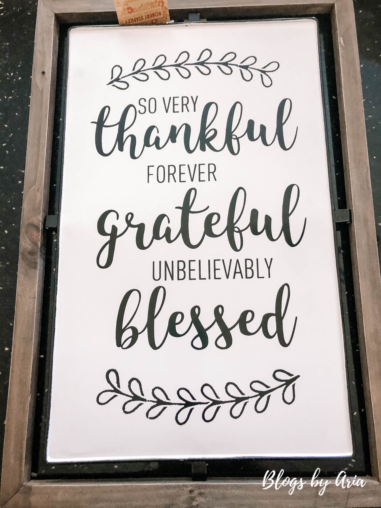 fall thankful grateful blessed sign