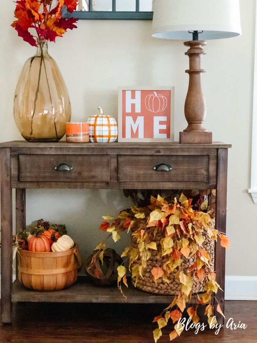 fall entry table decorating ideas