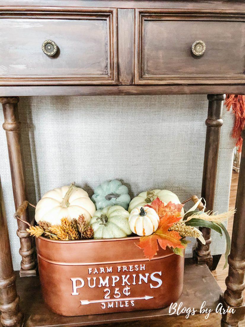 copper fall pumpkin bin