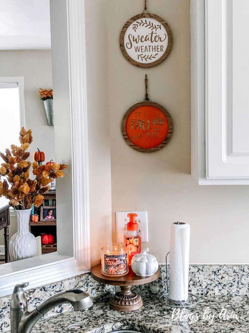 easy ways to add fall kitchen decor