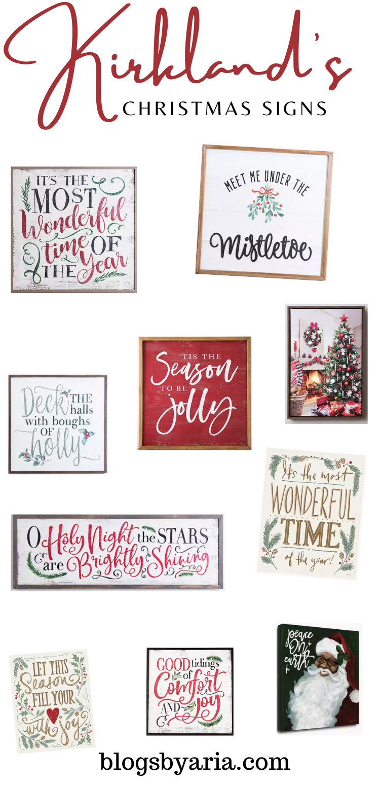 Kirkland's Christmas Signs perfect for adding festive holiday cheer to your home
