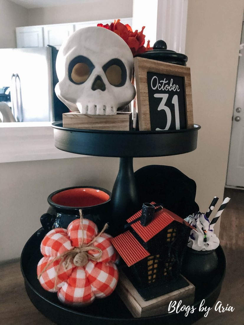 halloween two tier tray